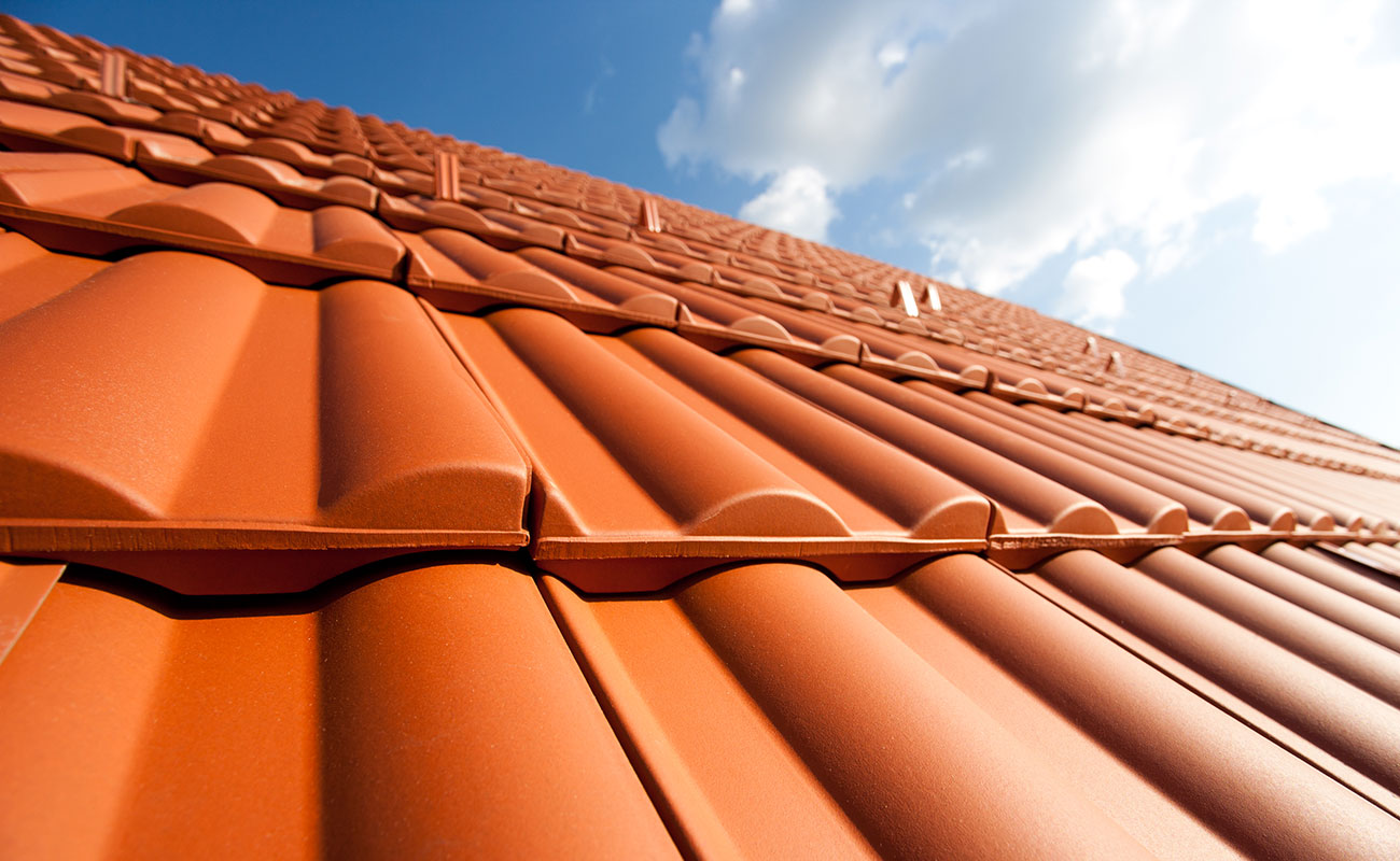 new clay tiled roof installation
